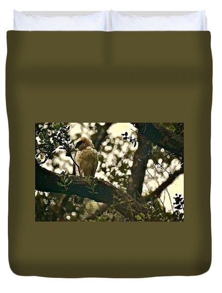 Io - Hawaiian Hawk Duvet Cover
