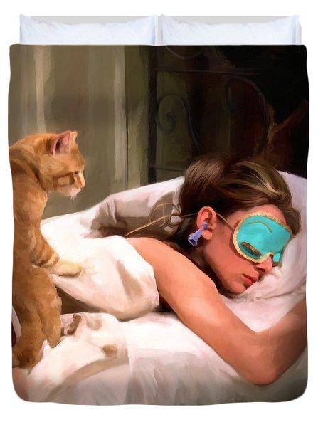 Breakfast At Tiffany's 4 Duvet Cover by Gabriel T Toro