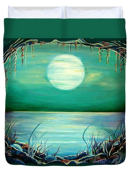 Turquoise Taunt Duvet Cover