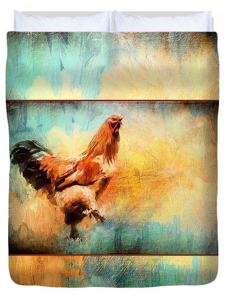 Buff Brahma Mrs. Darwin's Rooster  Duvet Cover