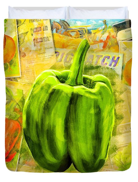 Vintage Bell Pepper Duvet Cover
