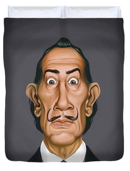 Celebrity Sunday - Salvador Dali Duvet Cover by Rob Snow