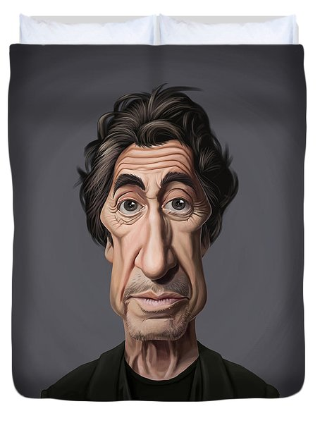 Celebrity Sunday - Al Pacino Duvet Cover by Rob Snow