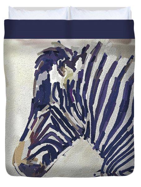 Zebra Resting Duvet Cover