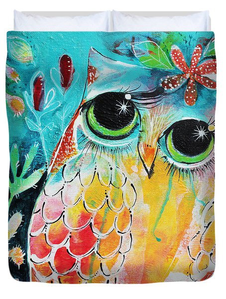 Owlette Duvet Cover by DAKRI Sinclair