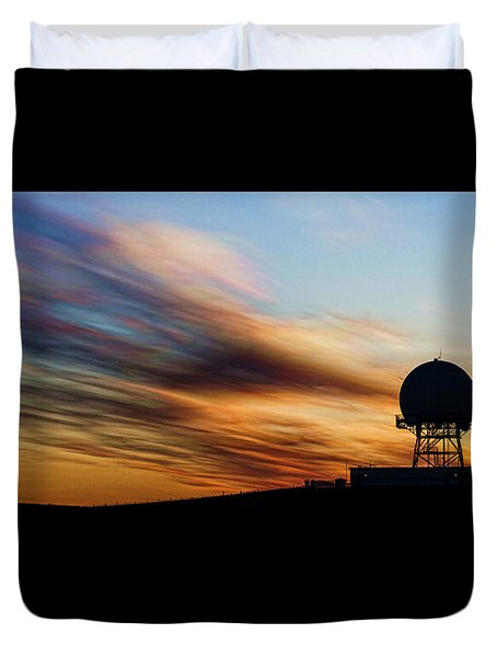 Radar Sunrise Duvet Cover