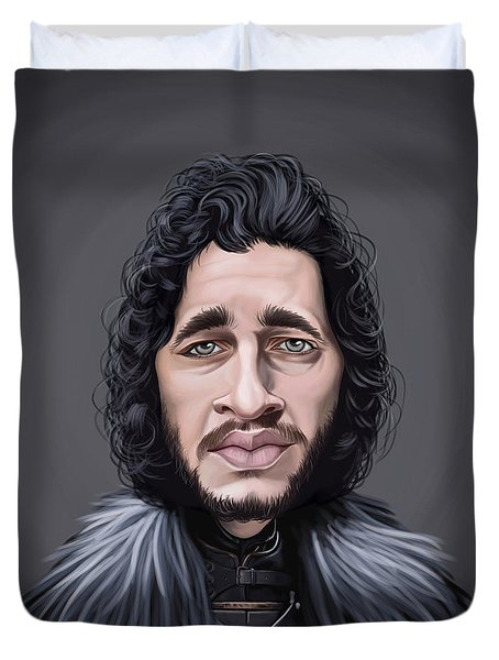 Celebrity Sunday - Kit Harington Duvet Cover