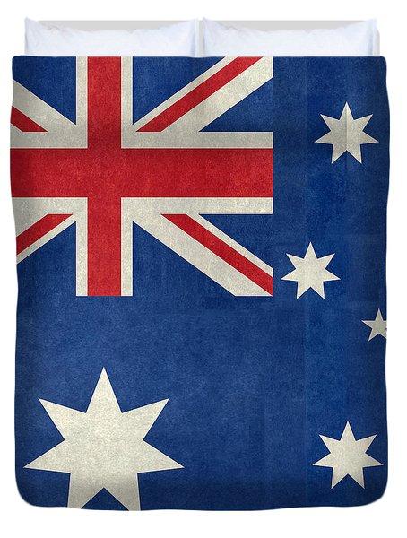 Australian Flag Vintage Retro Style Duvet Cover