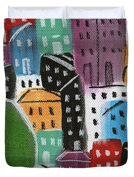 City Stories- By The Park Duvet Cover