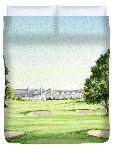 Southern Hills Golf Course 18th Hole Duvet Cover