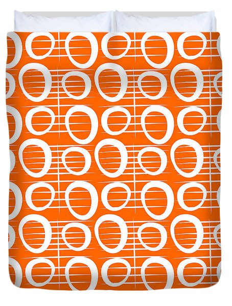 Tangerine Loop Duvet Cover
