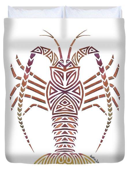Tribal Caribbean Lobster Duvet Cover