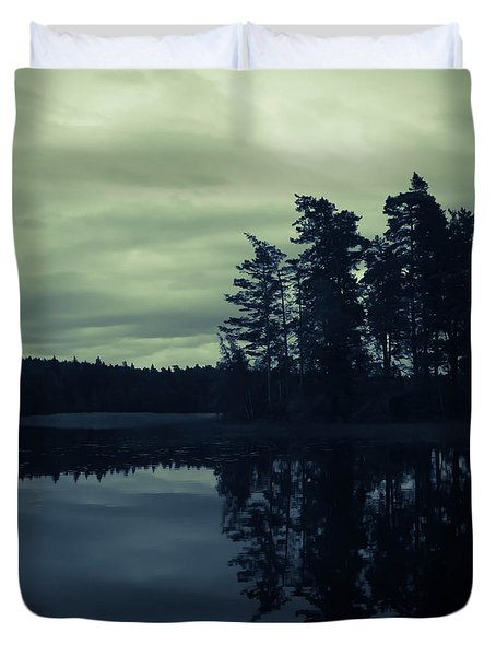 Lake By Night Duvet Cover
