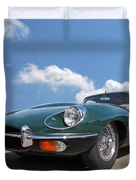 En Route To Goodwood - Jaguar E-type Duvet Cover