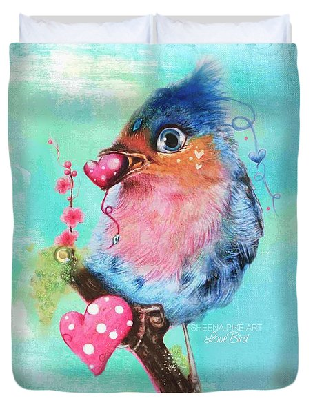 Love Bird Duvet Cover by Sheena Pike