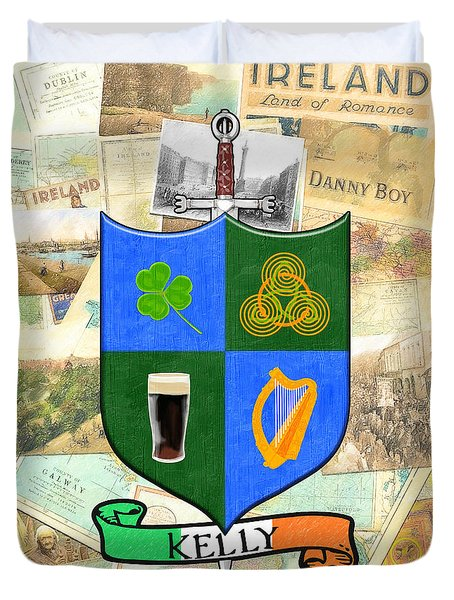 Irish Coat Of Arms - Kelly Duvet Cover