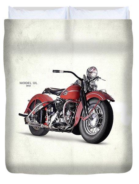 Harley-davidson Ul 1941 Duvet Cover by Mark Rogan