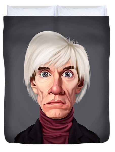 Celebrity Sunday - Andy Warhol Duvet Cover by Rob Snow