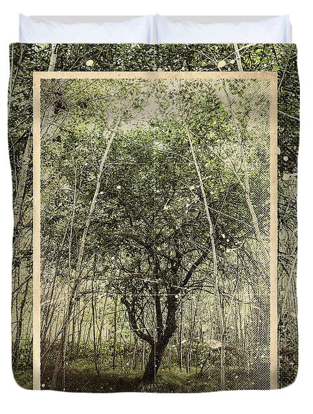 Hand Of God Apple Tree Poster Duvet Cover