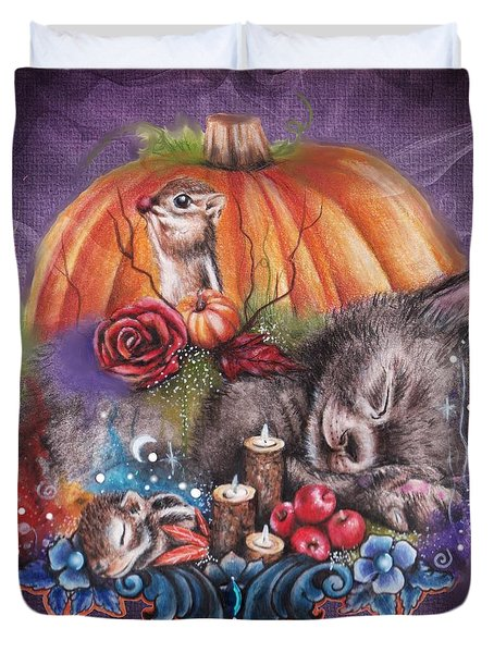 Dreaming Of Autumn Duvet Cover by Sheena Pike