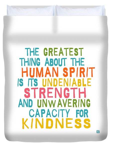 The Human Spirit Duvet Cover