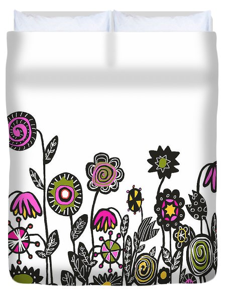 Hippie Garden Duvet Cover by Lisa Weedn