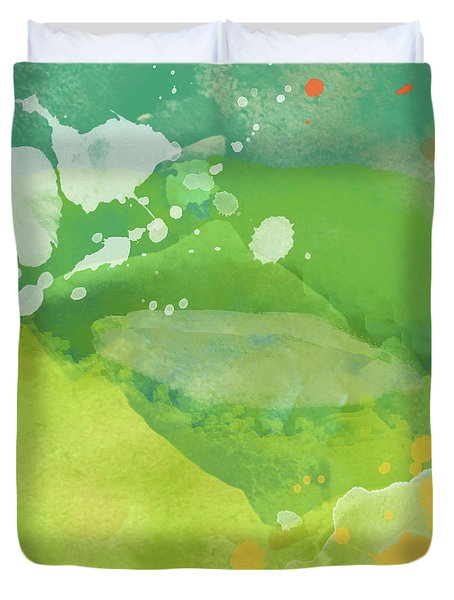 Duvet Cover featuring the painting I Am A Beautiful Mess by Lisa Weedn
