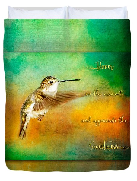 Hummingbird Hover Duvet Cover