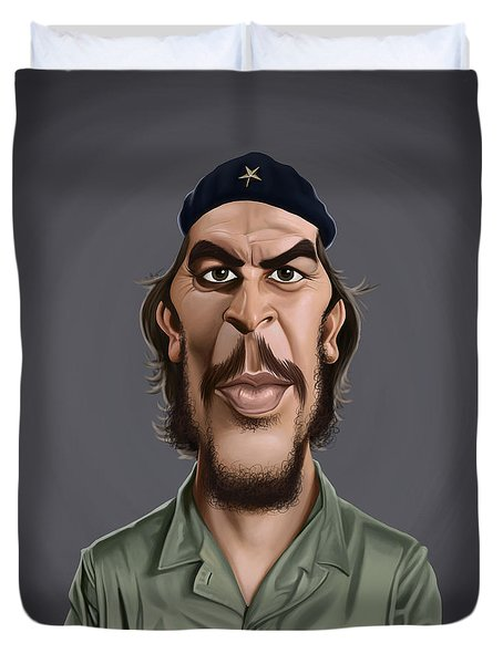 Celebrity Sunday - Che Guevara Duvet Cover by Rob Snow