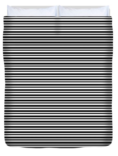 Simply Stripes- Art By Linda Woods Duvet Cover by Linda Woods