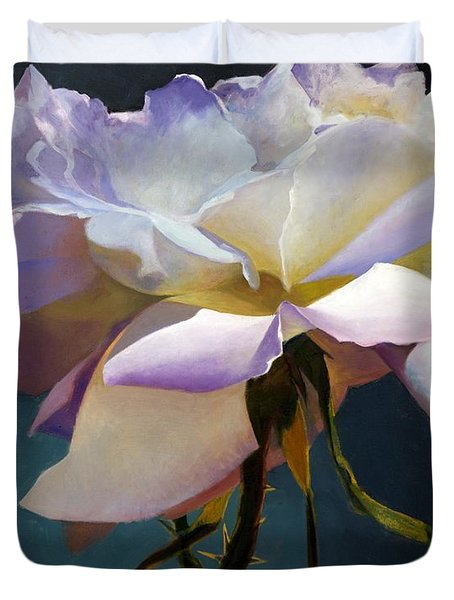 White Rose Of Eden Duvet Cover