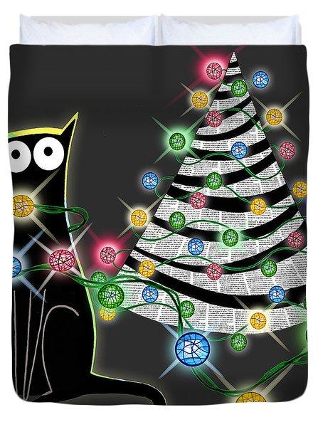 Paper Christmas Tree Duvet Cover