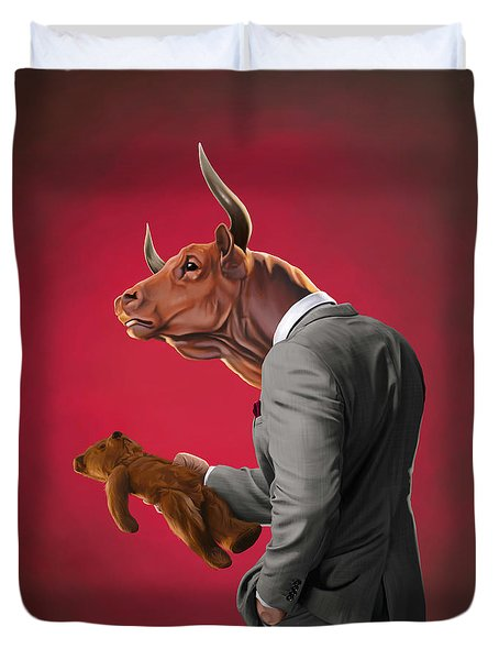 Bull Duvet Cover by Rob Snow