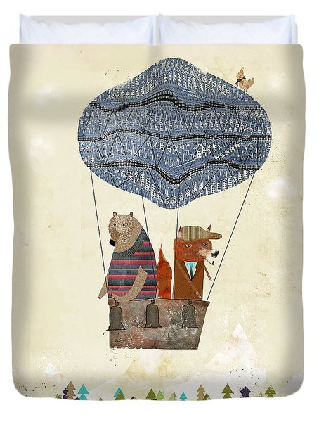 Mr Fox And Bears Adventure  Duvet Cover