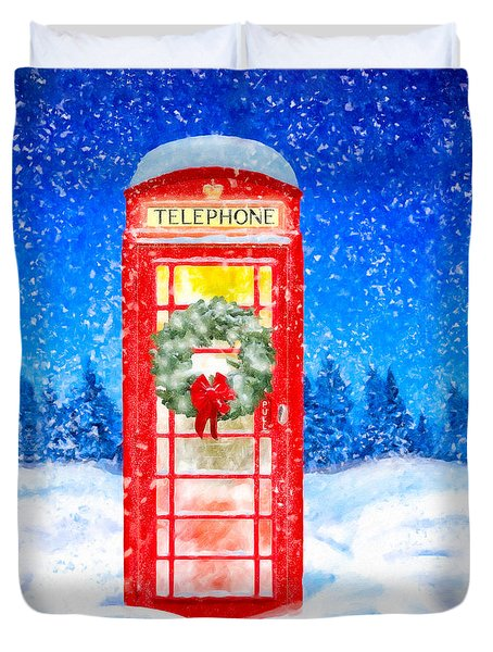 Still Night - A British Christmas Duvet Cover by Mark Tisdale