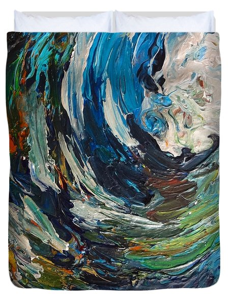 Abstract Wild Wave  Duvet Cover