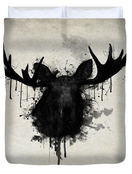 Moose Duvet Cover by Nicklas Gustafsson