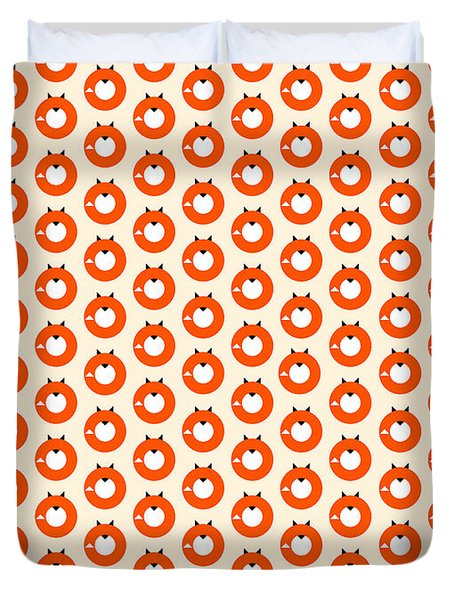 A Most Minimalist Fox Duvet Cover by Nicholas Ely