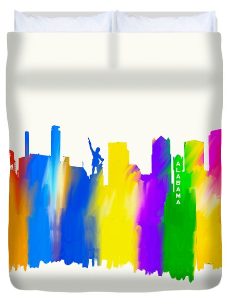 Duvet Cover featuring the mixed media Seeing The Sights In Birmingham by Mark Tisdale