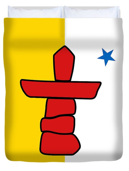 Flag Of Nunavut High Quality Authentic Hd Version Duvet Cover