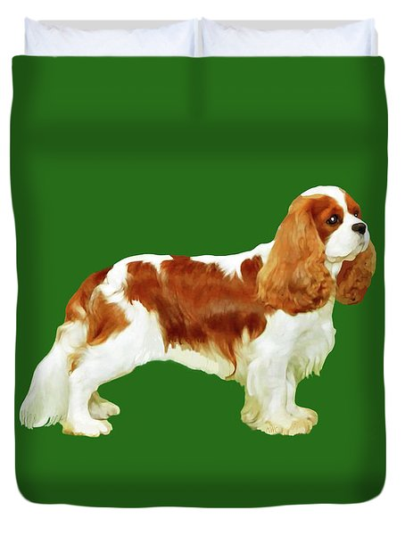 Cavalier King Charles Spaniel Duvet Cover by Marian Cates