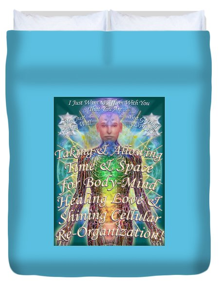 Getting Super Chart For Affirmation Visualization V3u Duvet Cover
