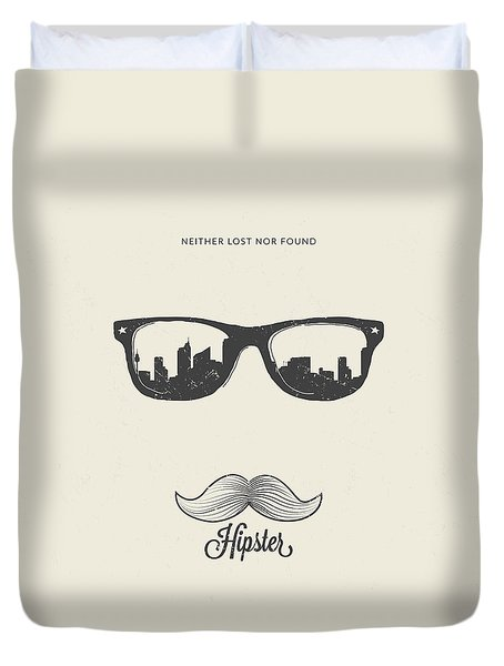 Hipster Neither Lost Nor Found Duvet Cover by BONB Creative
