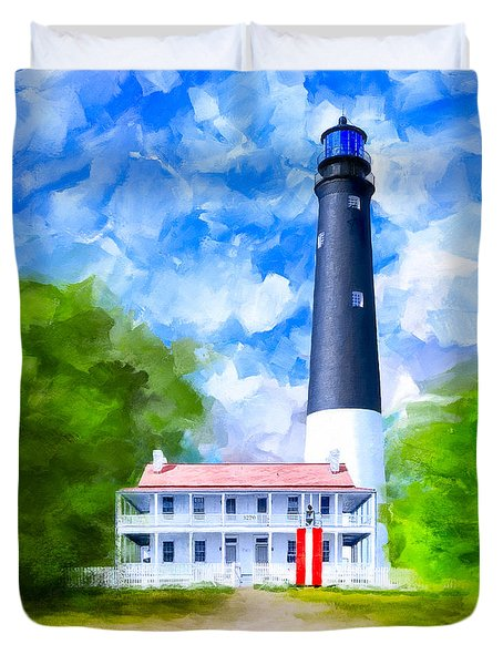 Historic Pensacola Light Duvet Cover by Mark Tisdale