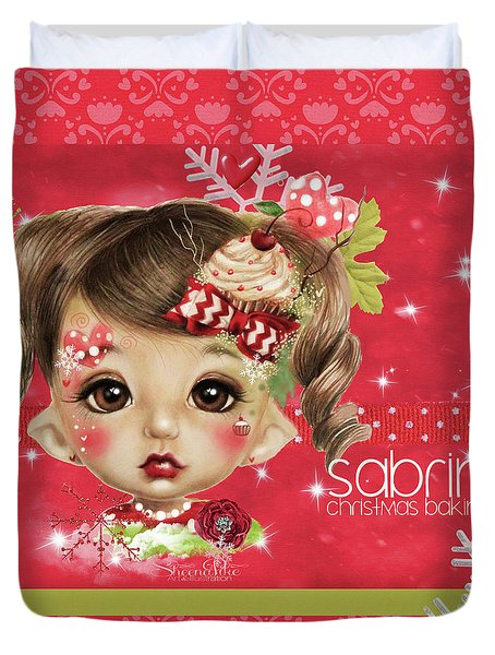 Sabrina - Elf  Duvet Cover by Sheena Pike