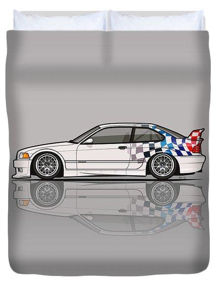 Bmw 3 Series E36 M3 Gtr Coupe Touring Car Duvet Cover