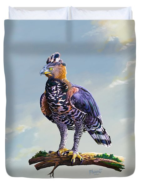 African Crowned Eagle  Duvet Cover