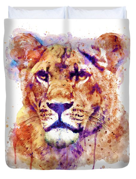 Lioness Head Duvet Cover