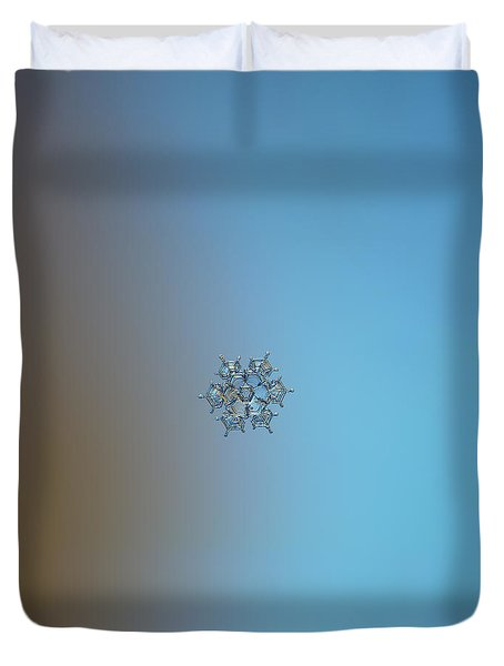 Snowflake Photo - Flying Castle Duvet Cover