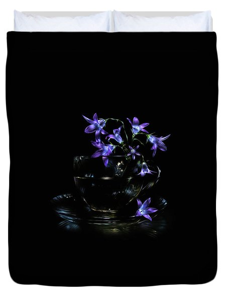 Duvet Cover featuring the photograph Bluebells by Alexey Kljatov